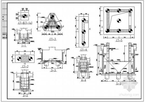 某桩基承台节点构造详图