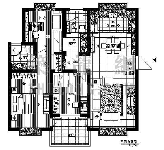 三室二厅二卫装修图