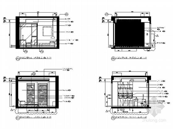 [上海]精品现代大气三层小别墅施工图客房