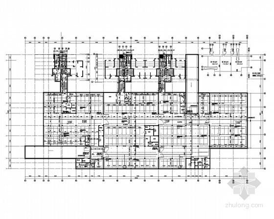 [黑龙江]高层综合建筑体给排水施工图(水、暖、电)