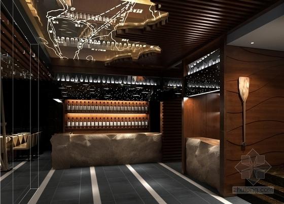 [南京]时尚铁板烧餐厅装修效果图