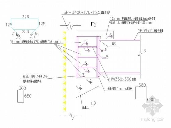 [福建]基坑钢板桩结合钢管内支撑支护施工图