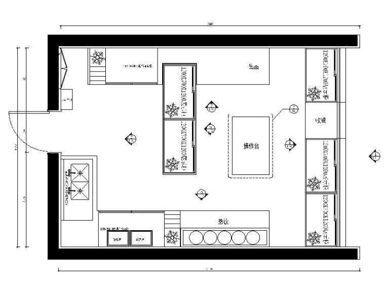 [咸阳]中式餐饮连锁餐厅室内设计施工图(含效果图)