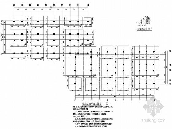 [四川]五层与六层纯框架结构学生公寓结构施工图(灾后重建项目)
