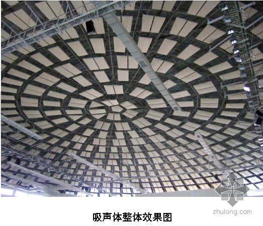 保证大跨度网架吸声体吊件观感质量