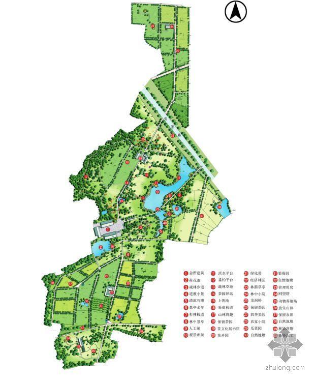 江苏省茶场改造生态园景观规划设计图纸部分1