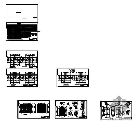 [安徽]某小型住宅小区七幢住宅楼群建筑施工图-3