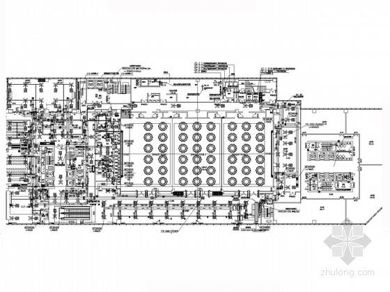 [河北]五星级连锁酒店暖通空调设计施工图(水冷式除湿热泵 冷热源机房)