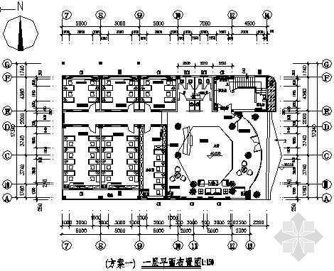 广东省某办公楼装修图带效果图