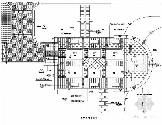 楼间广场铺装平面图