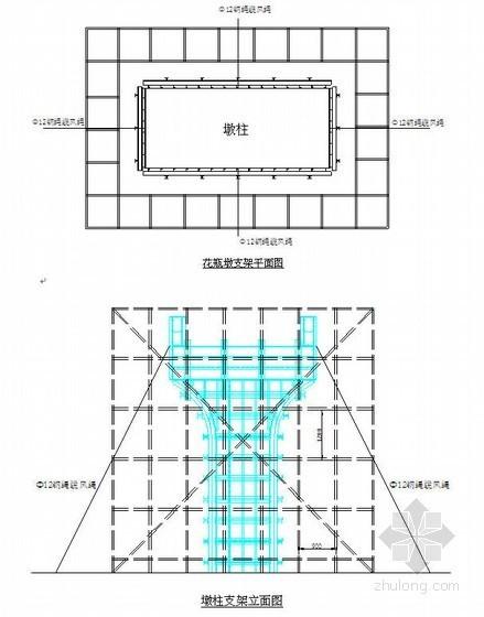 金阊区市政高架桥高墩模板施工方案(花瓶墩,钢模板)