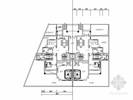 某四层花园洋房户型平面图