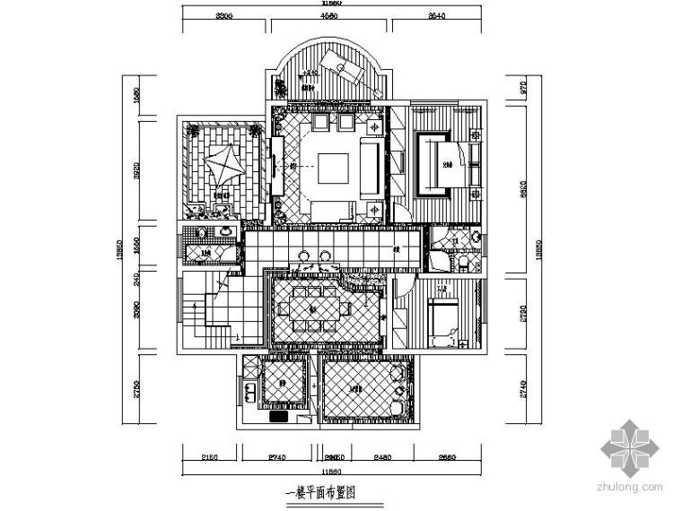 欧式新古典客厅装修资料下载-[湖南]欧式新古典二层别墅室内装修图(含效果)