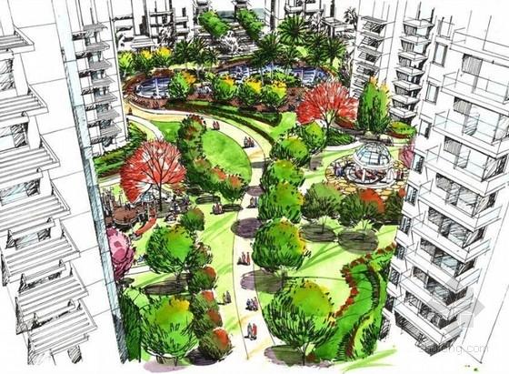 [江苏]湖畔型花园住宅小区景观设计方案