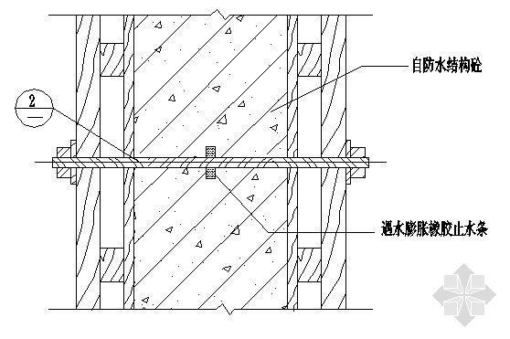 地下室对拉模板螺栓(套管式、埋入式)节点防水