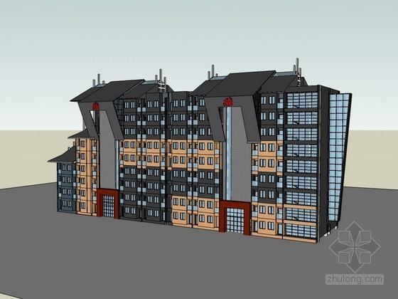 民族地区党校学生公寓sketchup模型