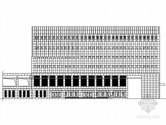 [江苏]某市政七层展览馆建筑施工图(含效果图)