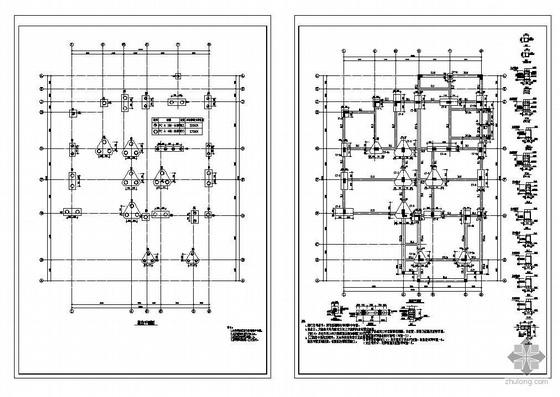 某3层异型柱框架结构别墅施工图