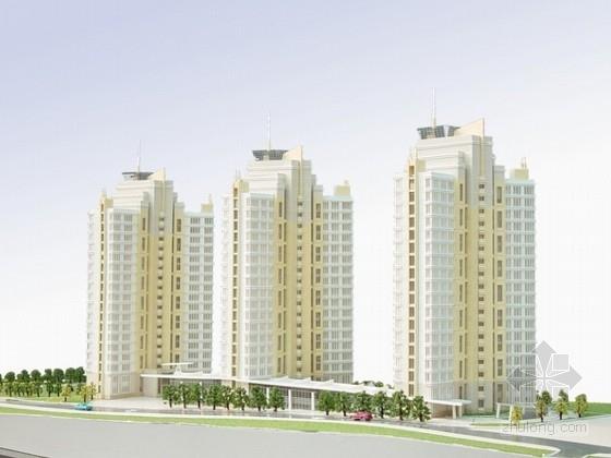 [青岛]某欧陆风格住宅小区建筑设计方案文本