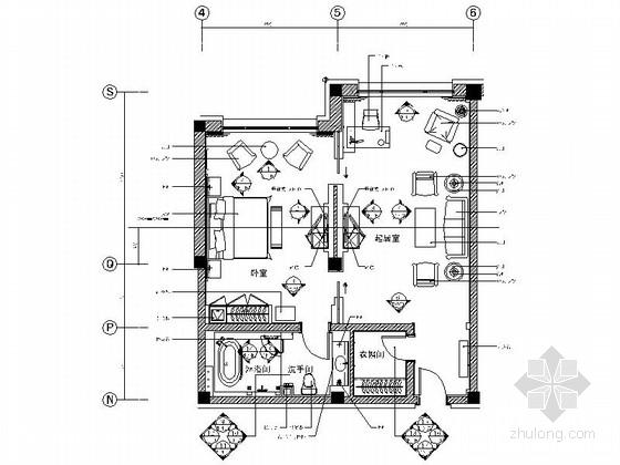 [石家庄]新中式风格五星级迎宾馆客房设计装修图(含效果)