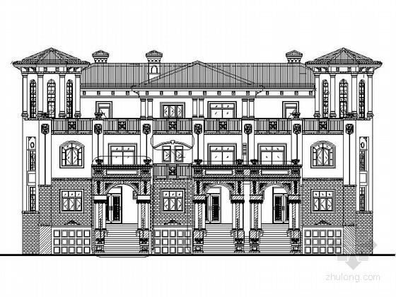 [四川]西班牙风格三平拼接联排别墅单体建筑设计施工图(知名建筑设计院)