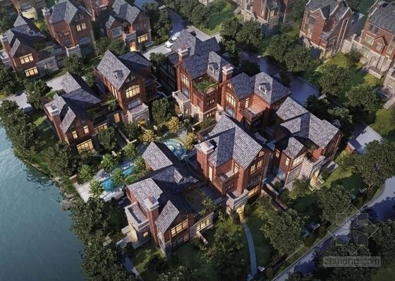 英式风格高档宜居别墅区规划设计效果图