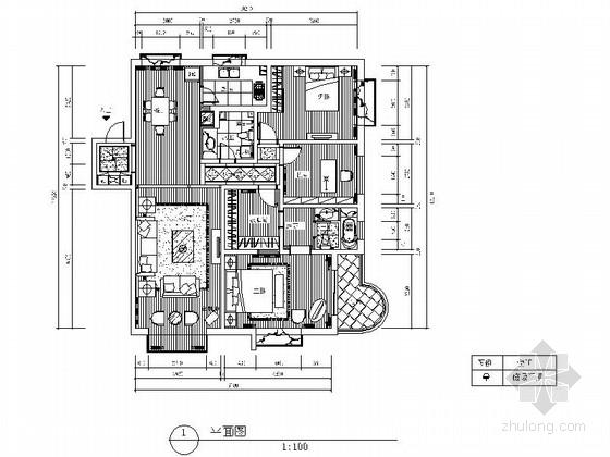 [山东]精装欧式两居室装修施工图