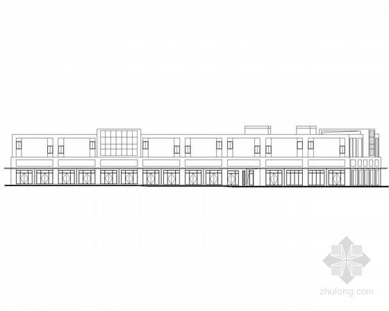 [宜昌]某商贸物流中心二层沿街商铺建筑施工图(2号楼)