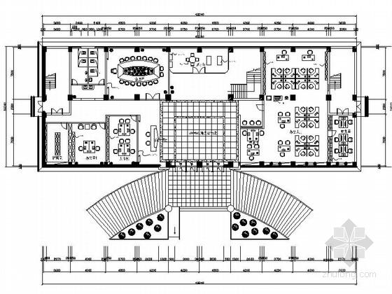 [绍兴]民营企业集团锦纶公司现代办公室装修施工图