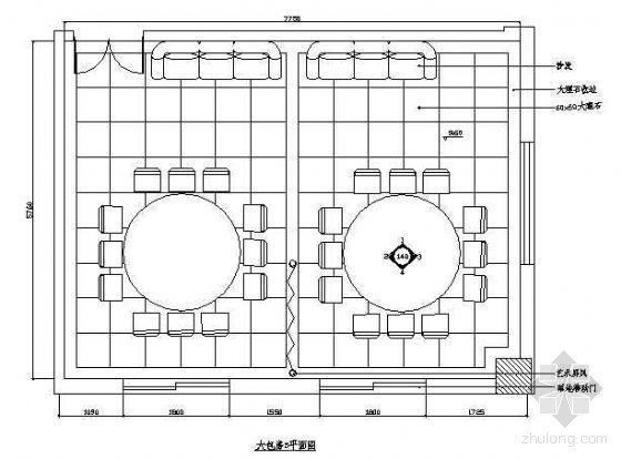 餐厅包房平面布置图4