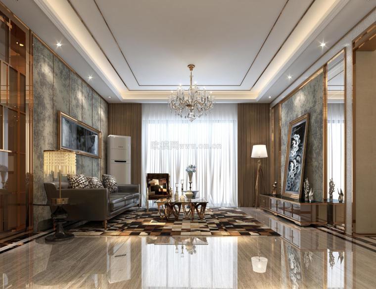 现代客厅空间设计效果图