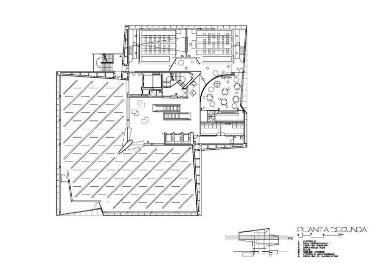 西班牙独特雕塑般构造的文化中心平面图 (27)