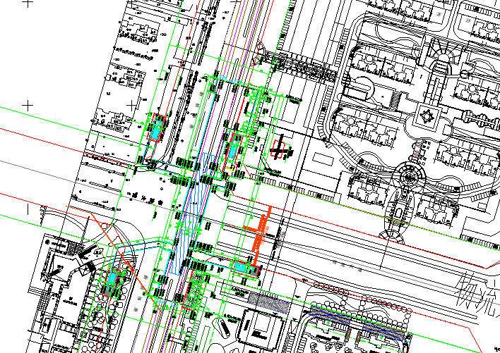 地铁隧道区间及车站施工图纸合集(共1824张)-二号车站平面图