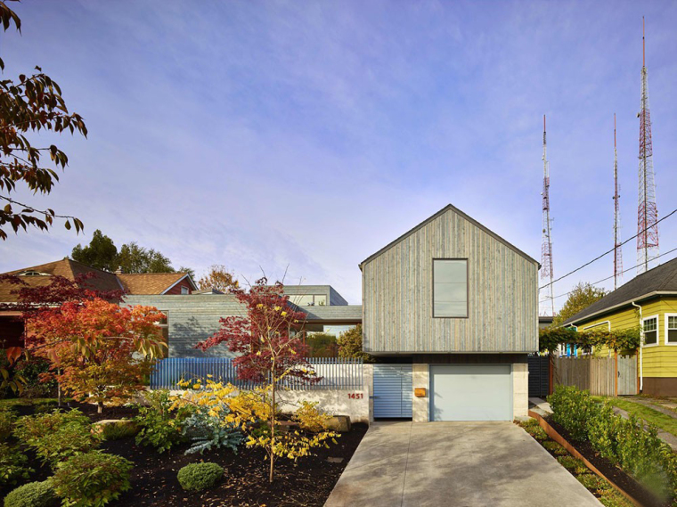 美国兼艺术工作室的住宅