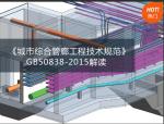 (预售)《城市综合管廊工程技术规范》GB50838-2015解读