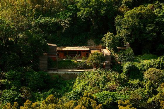 台湾由废墟改造的住宅景观