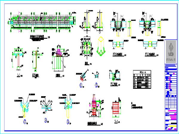 车站停车场检修平台结构图
