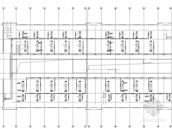 [重庆]多层办公楼空调新风系统设计施工图(含计算书 空调系统安装工程量清单)