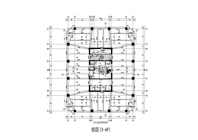 5栋超高层框筒结构商业综合体结构施工图