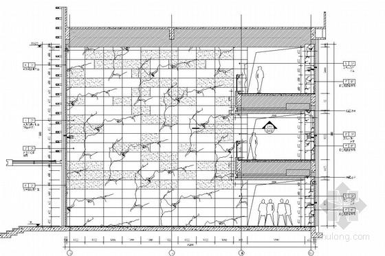 [江苏]省级重点实验中学对外交流中心室施工图 门厅立面图