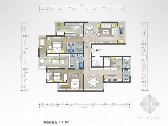 [北京]清雅幽远新中式样板间设计方案(含效果图)
