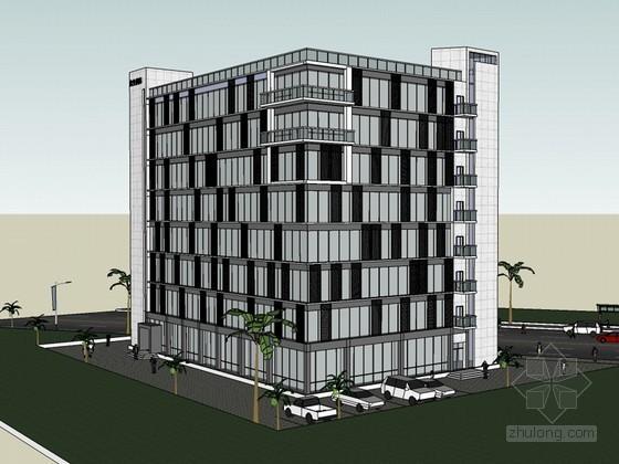 教学建筑SketchUp模型下载-教学建筑