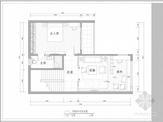 [佛山]单身公寓室内设计方案图