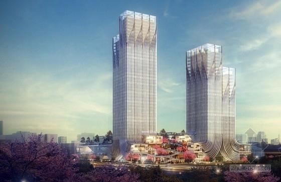 [安徽]超高层知名办公综合体建筑设计竞标方案文本(含交通枢纽设计)