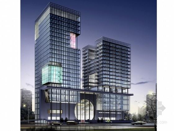 [浙江]24层玻璃幕墙电子信息大厦设计方案文本(含CAD)