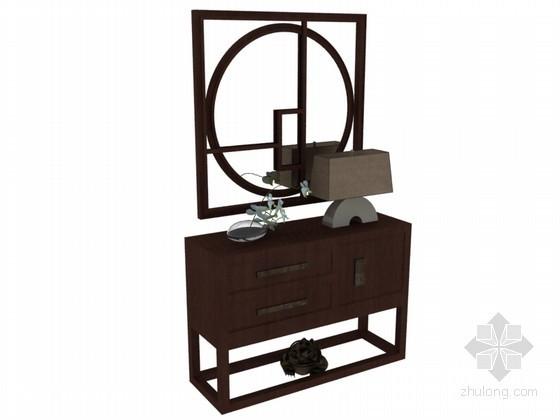中式装饰柜3D模型下载