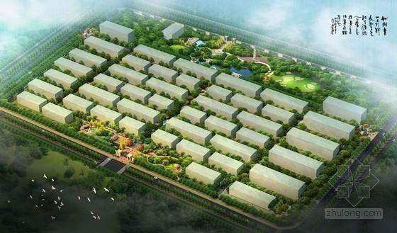 [北京]尊贵风情古典别墅规划设计方案-鸟瞰图