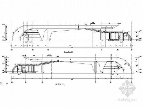 钢结构新能源汽车公司大门结构施工图(含建筑图)