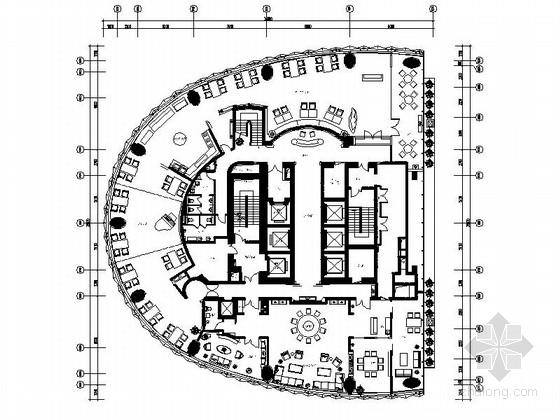 [上海]原创标志性城市滨水区高档休闲会所CAD装修施工图(含全套方案)