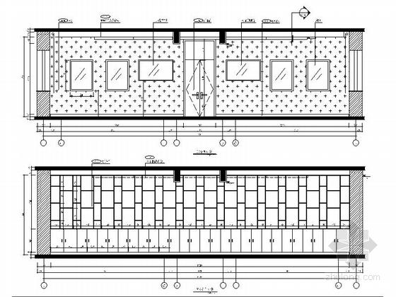 [原创]现代风格小学室内设计装修施工图(含高清效果)大会议室立面图